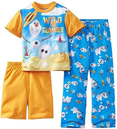 Disney Store Boys Frozen Olaf PJ Pal Pajamas Two Piece Set Long Sleeve Blue Sz 3