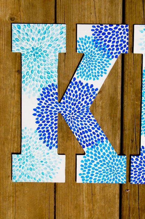 Peint à la main personnalisé grande lettres grecques par rskelton