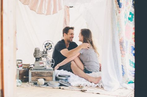 a living room fort engagement shoot!