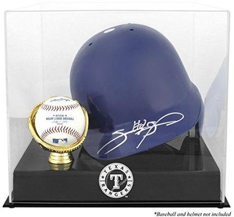Texas Rangers Helmet Display Case With Images Batting Helmet Baseball Display Case Helmet