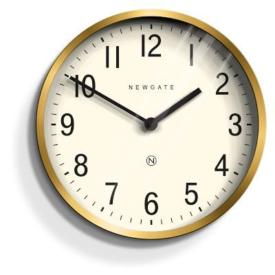 Master Edwards Clock Radial Brass Clock Grey Clocks Grey Wall Clocks