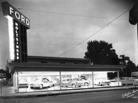 Ford Dealership Tampa >> 1955 Holtsinger Ford Dealership Tampa Florida Car Ford
