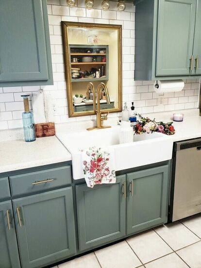 How To Paint A Furniture Hustlers Kitchen Cabinet Refresh Diy In 2020 Kitchen Transformation Kitchen Cabinets Cabinet Refresh
