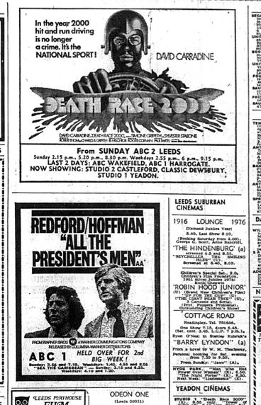 Pin By Meathookcinema On Film Newspaper Ads Poster Ads Tv Ads Death Race