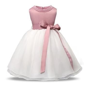 Baby Girl Sequins Tutu Dress Christening Baptism Formal Gown For Party Wedding