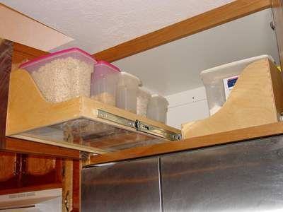 The Best Functional Overhead Fridge Cabinet Solutions Mecc Interiors Inc Fridge Storage Used Kitchen Cabinets Kitchen Redo
