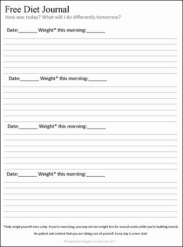 free diet journal - I probably won't use this daily but a good reflection