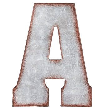 Galvanized Metal Letter Wall Decor A Metal Wall Letters Letter Wall Decor Metal Letters