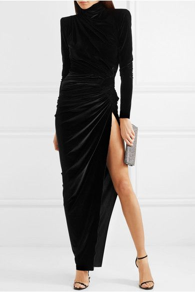 factory outlet good texture retail prices Alexandre Vauthier | Gathered stretch-velvet maxi dress ...