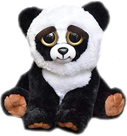 Feisty Pets Black Belt Bobby Plush Stuffed Panda That Turns Feisty