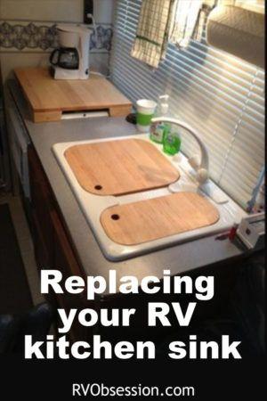 Rv Kitchen Sinks Rv Kitchen Replacing Kitchen Sink Kitchen Sink Sizes