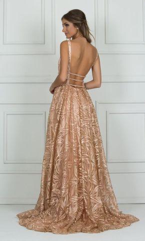 Vestido Rose Gold Em 2019 Vestido Rose Gold Vestidos E