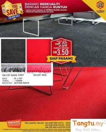We Save You Save Sale For Velvet Carpet Klang Tangtu Malaysia Singapore Free Classified Ads Karpet Produk Alas