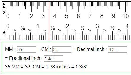 Convert Mm Cm To Fraction Or Decimal Inches In Mm Cm Metric Conversion Chart Cm To Inches Conversion Ruler Measurements
