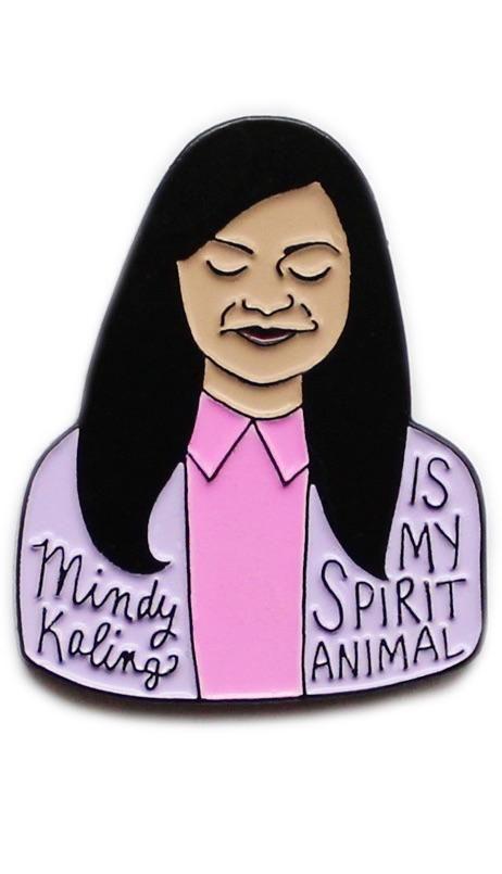 Mindy Kaling Is My Spirit Animal Enamel Pin My Spirit Animal Spirit Animal Mindy Kaling