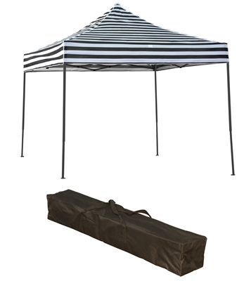 Trademark Innovations Lightweight Portable Canopy Tent Set Black Stripe Canopy Cover Tentcanopyideas 10x10 Canopy Tent Canopy Tent Portable Canopy
