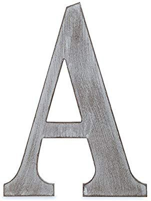 Charcoal Grey Wall Letter 14 L The Lucky Clover Trading LBL14CG-B B Wood Block Gray