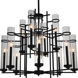 Show Details For 38 Sierra Modern Black Iron Two Tier Large Round Foyer Chandelier 12 Lights Black Chandelier Modern Chandelier Foyer Chandelier