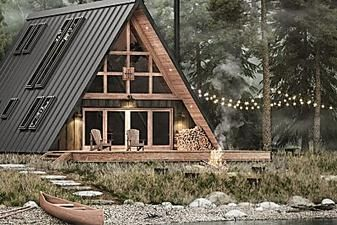 Affordable A Frame House Can Be Built By Just Two People A Frame House A Frame Cabin Plans A Frame Cabin