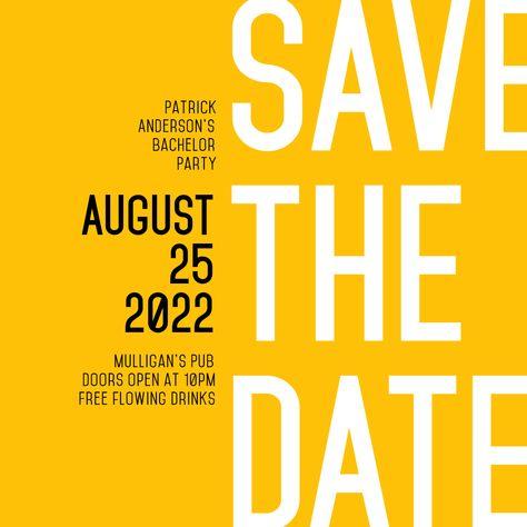 Save the Date Editable Invitation