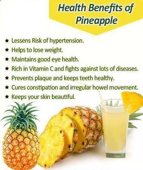 Health Benefits of #Pineapple | Pineapple health benefits, Pineapple benefits, Food