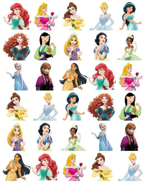 Disney Princess Half Body Stand Up Cupcake Toppers Wafer Paper BUY2 GET 3RDFREE!