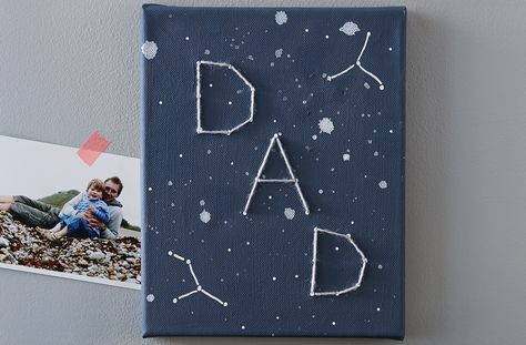 Dad won't be needing his telescope to spot this canvas constellation. Give him an extra special gift for Father's Day with this simple craft using just a canvas and some paint.