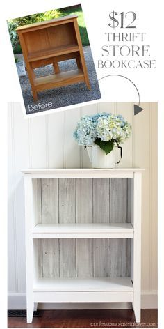 Reclaimed Wood Bookcase from Confessions of a Serial Do-it-Yourselfer home decor furniture makeover Reclaimed Wood Bookcase Reclaimed Wood Bookcase, Reclaimed Furniture, Refurbished Furniture, Repurposed Furniture, Shabby Chic Furniture, Furniture Makeover, Painted Furniture, Rustic Bookcase, Refurbished Bookcase