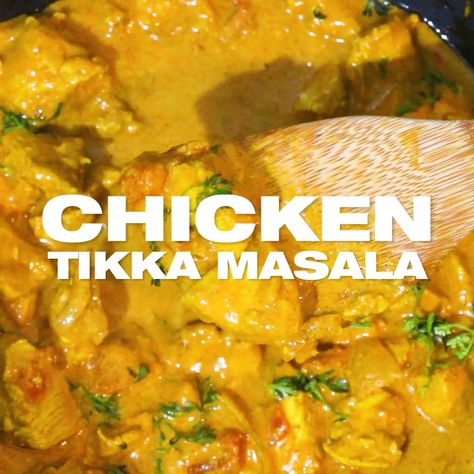 Easy Chicken Tikka Masala Recipe -  Homemade chicken tikka masala curry, ready within 25 minutes made from scratch, quick and easy dinner meal for two. British Indian curry dish, spicy hot this curry gravy dish kicks a punch and promises to satisfy your taste buds. Learn how to make chicken tikka masala with my video. MasalaHerb.com #curry #chicken