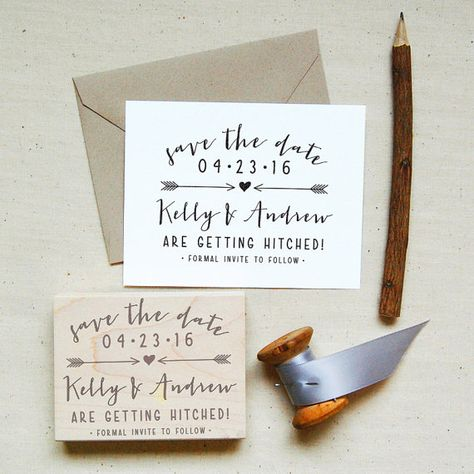 Get A Custom Save The Date Stamp For Your Upcoming Wedding This Is Fun And Unique Alternative To Printed Cards All You Need Flat