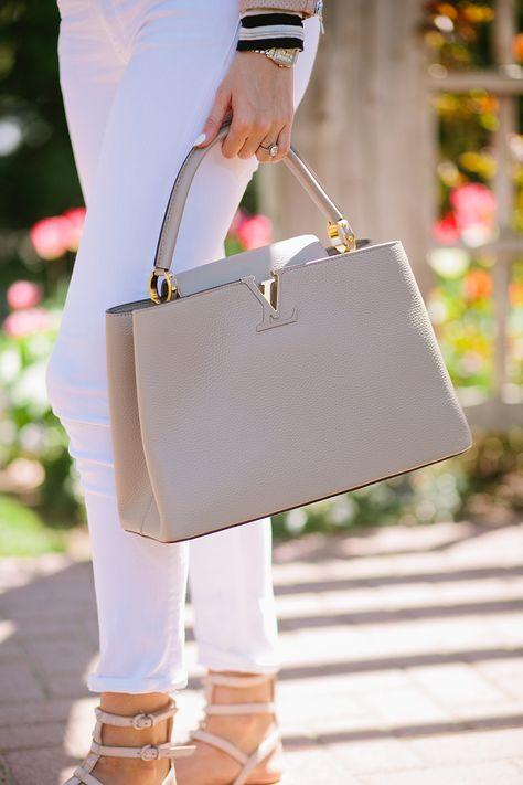 Neutral gray handbag from Louis Vuitton. Awesome handbag inspiration, pin now! Neutral gray handbag from Louis Vuitton. Awesome handbag inspiration, pin now!