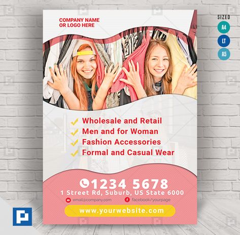 Shopping Center Flyer - PSDPixel