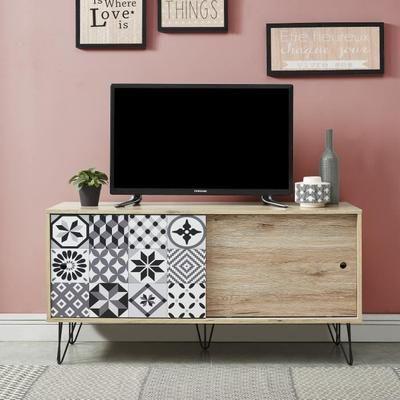 Colette Meuble Tv Vintage Decor Chene L 120 Cm Meuble Tv Deco Meuble Tv Mobilier De Salon