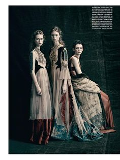 È ALTA MODA: Julie Hoomans, Frida Westerlund, Allyson Chalmers by Paolo Roversi for Vogue Italia March 2016 - Valentino Spring 2016 Haute Couture