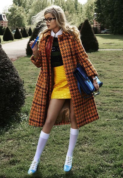Fall Outfits Frida Aasen by Lucian Bor for Tatler Russia September 2015 - Miu Miu Fall 2015