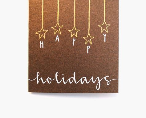 Happy Holiday Card  Handwritten Calligraphy  by sparrownestscript, $8.00