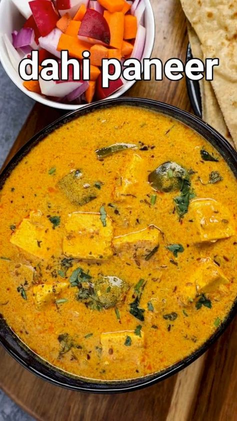 dahi paneer recipe | dahi ka paneer | dahi wala paneer ki sabji with detailed photo and video recipe. an easy and simple creamy north indian curry recipe made with a combination of yoghurt and diced paneer cubes. it is basically an extension to the popular kadhi recipe with toppings of paneer cubes in the place of vegetable or onion pakoras. it has all the goodness of the creamy curd but is loaded with assorted spices which makes it an ideal curry for lunch and dinner