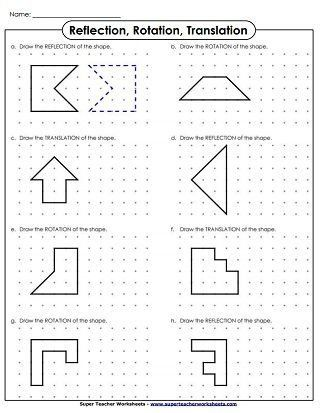 Translations Worksheets Math Translate Rotation Reflection Drawing Lembar Kerja Matematika Lembar Kerja Matematika Dilations worksheet 8th grade