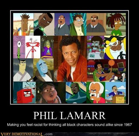 Phil Lamarr's many voices. Hermes <3