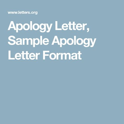 Apology Letter, Sample Apology Letter Format Quantity Surveying - apology letter