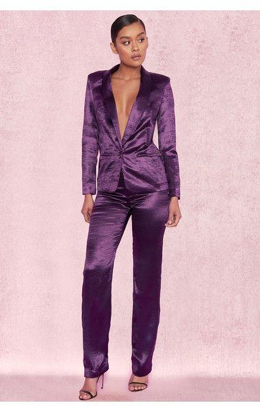 Satin Pants Suit