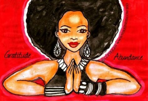 Image result for afro painting gratitude