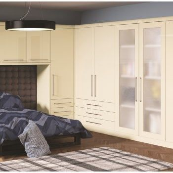 Bella Venice Bedroom Shown In High Gloss Cream Cream Bedroom Furniture Fitted Bedrooms Fitted Bedroom Furniture