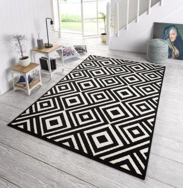 Zala Living Design Teppich Capri Schwarz Creme Teppich Teppich