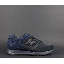 Hogan / Sneakers H321 Uomo Camoscio Tela Blu Prezzo 290,00 ...