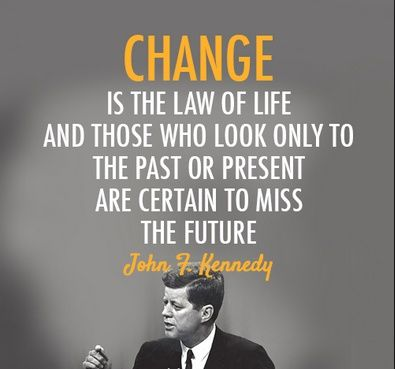 JFK #quote #change #quotes #inspiration #motivation