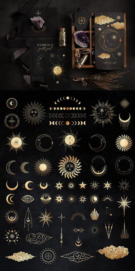 NOCTURNA Magic Celestial Collection - Zodiac Signs Talisman Crystal Animals - Gold Foil Magic Card Astrology Symbol
