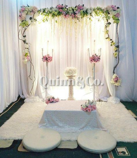 Dekorasi Akad Nikah In 2020 Nikah Decor Diy Wedding Backdrop Diy Wedding Decorations