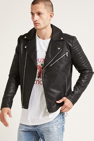 d5f80fffe Jackets | MEN | Forever21 | threads | Faux leather jackets, Quilted ...