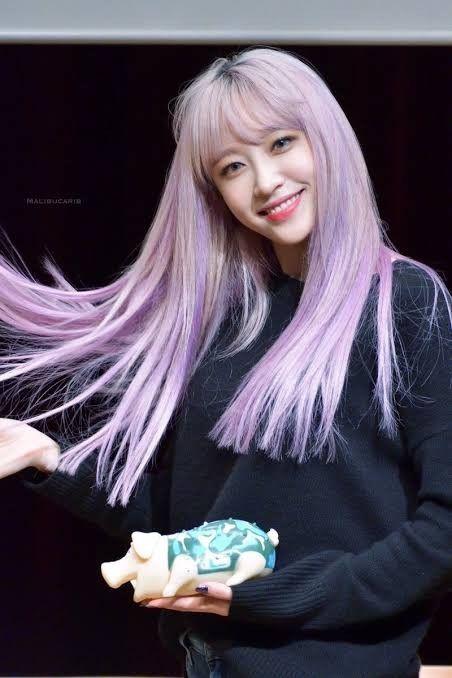 Pin By Natha Tnp On Idols Ahn Hani Korean Beauty Purple Hair